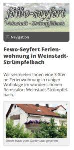 Screenshot FeWo-Seyfert Mobilansicht