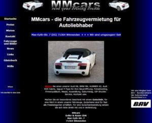 Schreenshot mm-cars Desktopansicht