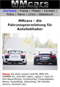 Schreenshot mm-cars Mobilansicht